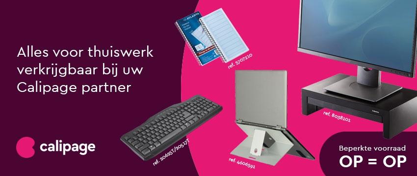 Alles voor thuiswerk verkrijgbaar bij uw Calipage partner