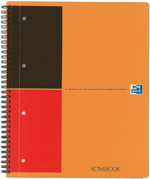 Oxford INTERNATIONAL Activebook, 160 pages, ft A4+, ligné