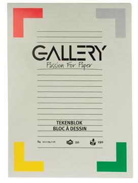 Gallery bloc de dessin 190 g/m², papier extra sans bois, 20 feuilles, ft 21 x 29,7 cm (A4)