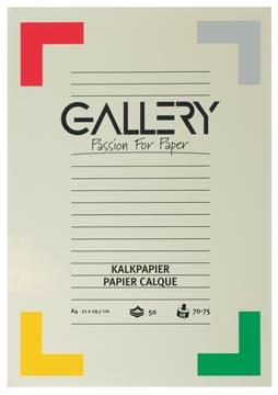 Gallery papier calque, ft 21 x 29,7 cm (A4), bloc de 50 feuilles