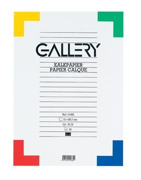 Gallery papier calque, ft 21 x 29,7 cm (A4), bloc de 20 feuilles