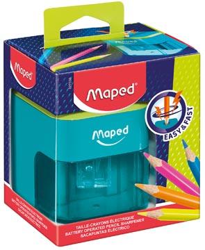 Maped taille-crayon électrique avec piles, en boîte distributrice