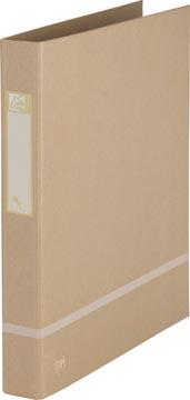 OXFORD Touareg classeur à anneaux, format A4, en carton, dos de 3,5 cm, 2 D-anneaux, sable