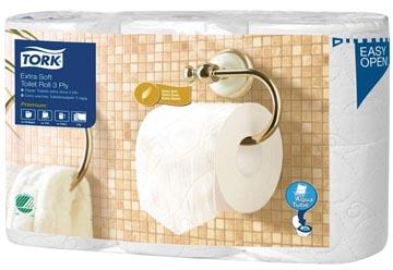 Tork papier toilette Extra Soft 3 plis, pour système T4, paquet de 6 rouleaux