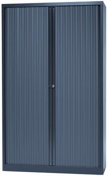 Bisley armoire à rideaux, ft 198 x 120 x 43 cm (h x l x p), 4 tablettes, anthracite