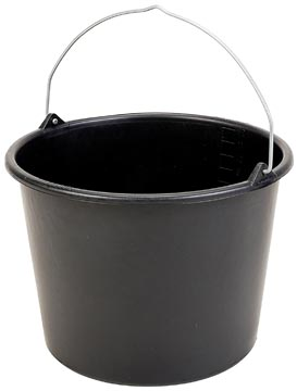 Seau, 12 litres, noir