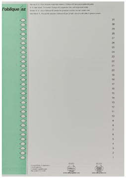 Elba onglets type 9, feuille de 31 étiquettes, vert