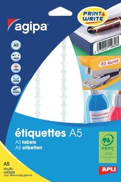 Agipa étiquettes blanches Print & Write Ft 56 x 34 mm (l x h), 192 pièces, 12 par feuille