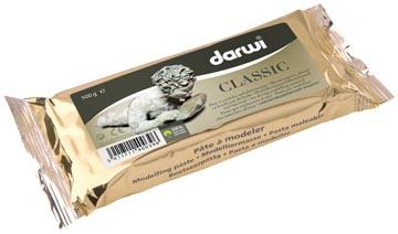 Darwi pâte à modeler Classic, paquet de 500 g, blanc