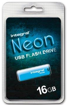 Integral Neon clé USB 2.0, 16 Go, bleu