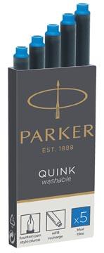 Parker Quink cartouches d'encre, bleu roi, boîte de 5 pièces