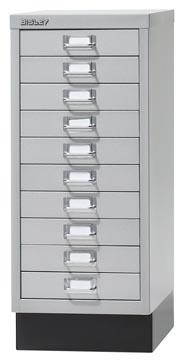 Bisley armoire à tiroirs, ft 67 x 27,9 x 40,8 (h x l x p), 10 tiroirs, gris