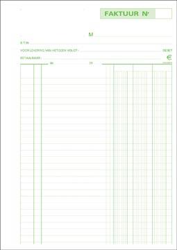 Exacompta factures, ft 29,7 x 21 cm, tripli, verticale, néerlandais