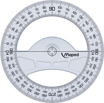 Maped rapporteur Geometric 360°, 12 cm