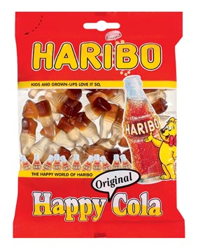 Haribo bonbons Happy Cola, sachet de 200 g