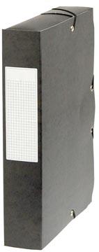 Pergamy boîte de classement, dos de 6 cm, noir