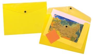 Beautone pochette documents, A4, jaune transparent