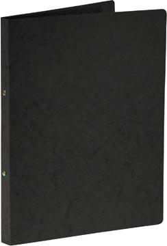 Bronyl classeur à anneaux, pour ft A4, en carton lustré, 2 anneaux de 16 mm, noir