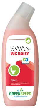 Greenspeed nettoyant toilette Swan WC Daily, parfum frais de pin, flacon de 750 ml
