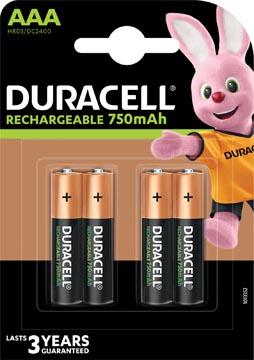Duracell piles Recharge Plus, AAA, blister de 4 pièces