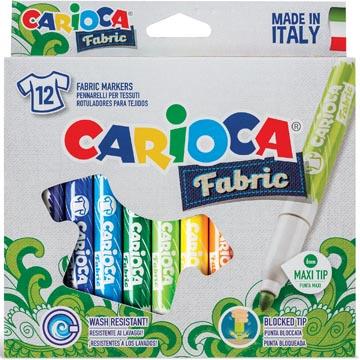 Caricoca feutre textile Fabric, 12 feutres en étui cartonné