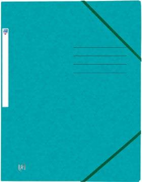 Elba Oxford Top File+ farde à rabats, pour ft A4, bleu aqua