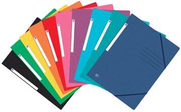 Elba Oxford Top File+ farde à rabats, pour ft A4, couleurs assorties, paquet de 25 pièces