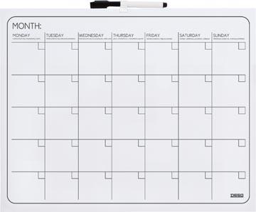 Desq planning magnétique mensuel ft 40 x 50 cm