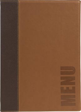 Securit Trendy protège-menu ft A4, brun clair