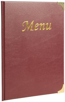 Securit menu Basic ft A4, bordeaux