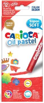 Carioca pastels à l'huile, boîte de 12 pièces en couleurs assorties