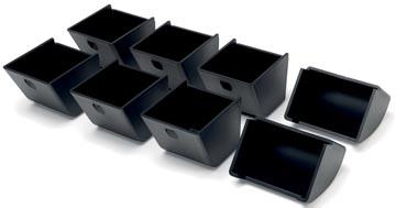 Safescan plateaux de pièces de monnaie pour la série 4617, noir, set de 8 pièces