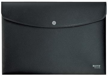 Leitz Recycle enveloppe projet A4, en plastique 80 % recyclé, noir