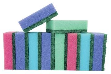 Aqualine éponge abrasive, ft 8 x 5,5 x 2,8 cm, paquet de 10 pièces
