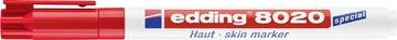 Edding marqueur spécial dermatologie e-8020 rouge