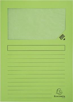 Exacompta pochette coin à fenêtre Forever, paquet de 100 pièces, vert clair
