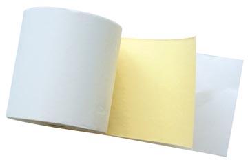 Bobine à 2 plis ft 76 mm, diamètre +-65 mm, mandrin 12 mm, longueur 25m, couleur blanc-jaune