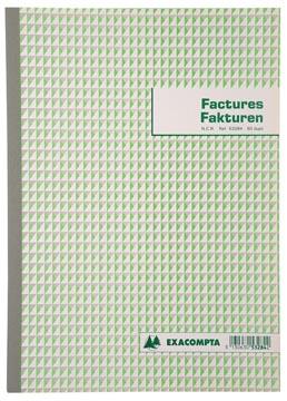 Exacompta facturier, ft 29,7x21 cm, bilingue, dupli (50 x 2 feuilles)