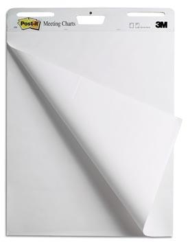 Post-it meeting chart, ft 63,5 x 76,2 cm, récyclé, bloc de 30 feuilles, paquet de 2 pièces