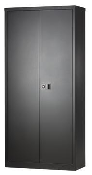 Bisley armoire à portes battantes, ft 195 x 91,4 x 40 cm (h x l x p), 4 tablettes, noir