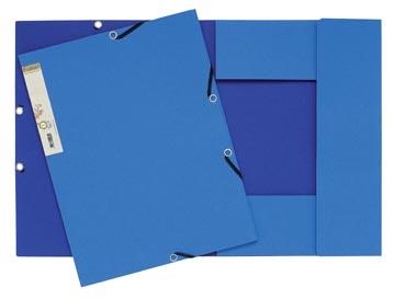 Exacompta chemise à rabats et élastiques Forever bleu clair/bleu foncé