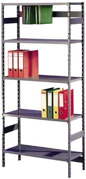 Avasco étagère Clicker Office 39, élément de base, ft 200 x 90 x 39 cm, 5 tablettes, galvanisé