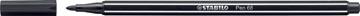 STABILO Pen 68 feutre, noir