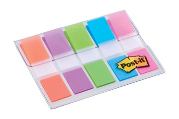 Post-it Index, ft 11,9X43,2 mm, blister avec 5 couleurs, 20 par couleur