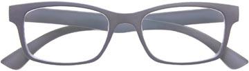 SILAC Soft Grey lunettes de lecture, caoutchouc polycarbonate, +2,00
