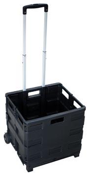 Chariot pliant avec bac de stockage, ft 38 x 36 x 33 cm, maximum 20 kg