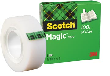Scotch ruban adhésif Magic Tape, ft 19 mm x 33 m