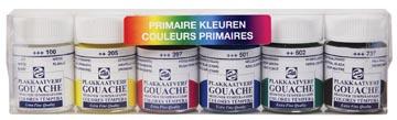Talens gouache Extra Fine, flacon de 16 ml, set de 6 flacons en couleurs primaires
