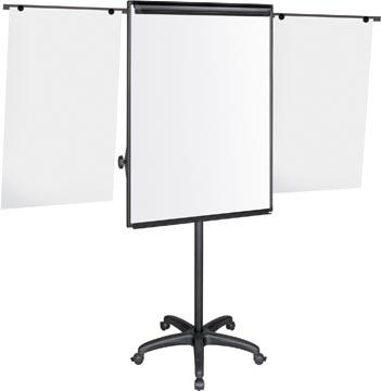 Pergamy Excellence tableau de conférence mobile magnétique avec 2 bras téléscopiques ft 107 x 75 cm