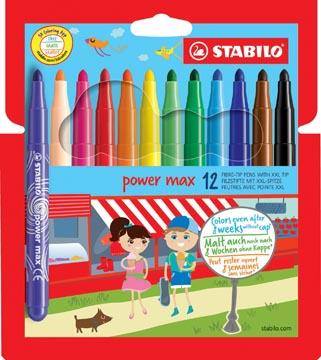 STABILO feutre Power Max, étui de 12 pièces en couleurs assorties